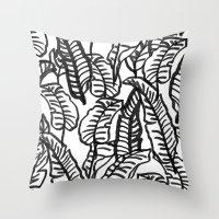 Banana Jungle Throw Pillow