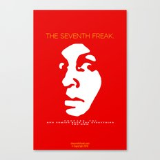 The Freaky Red Poster Canvas Print