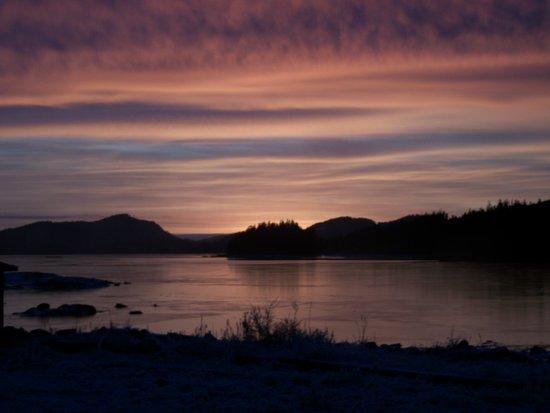 Frozen Sunset 4 - Pale Light Art Print