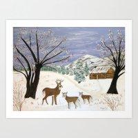 Winter is here  Art Print