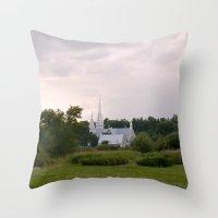 Countryside Church Throw Pillow