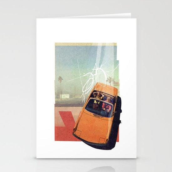 Getaway Car | Collage Stationery Card