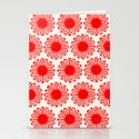 Vintage Flower-Red Stationery Cards