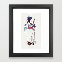 Love Is a Mix tape Framed Art Print