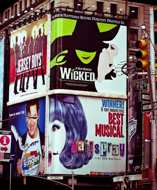New York City Broadway Signs Canvas Print