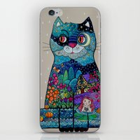night cat iPhone & iPod Skin