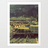 Beach In Amalfi, Italy Art Print