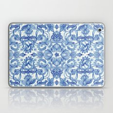 Pattern In Denim Blues O… Laptop & iPad Skin