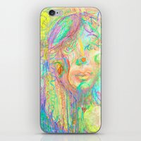 Psychedelic Girl iPhone & iPod Skin