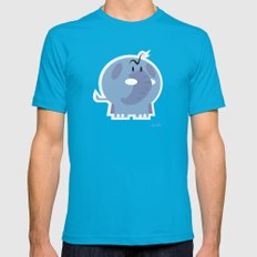 Angry Elefant Mens Fitted Tee Teal SMALL