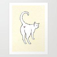Cat Butt Love Art Print