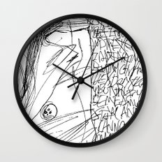 Line and Words - 2 Wall Clock