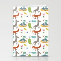 Happy animals Stationery Cards