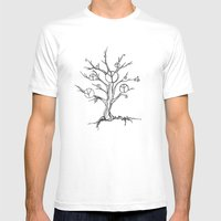 Peace Tree Mens Fitted Tee White SMALL