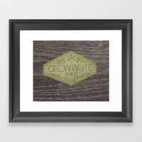 Grow Write Guild Seal Framed Art Print