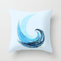 - La Vague - Throw Pillow