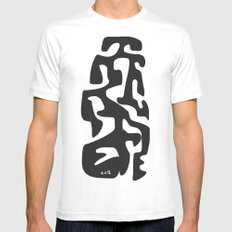 Nature, the language of the Creator       [CALIGRAPHY]  SMALL Mens Fitted Tee White
