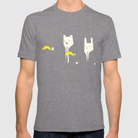 Pulp banana Mens Fitted Tee Tri-Grey SMALL