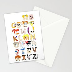 Child of the 90s Alphabet Stationery Cards