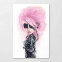 Pinkanhy Polka Canvas Print