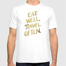 Eat Well Travel Often On… Mens Fitted Tee White SMALL