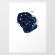 Zodiac Constellation - G… Art Print