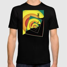 Spinning Disc Golf Baskets 3 SMALL Mens Fitted Tee Black