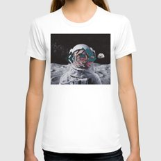 Spaceman Oh Spaceman, Co… Womens Fitted Tee White SMALL