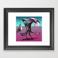Sunset On The Astral Pla… Framed Art Print