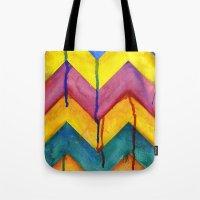 Watercolor Chevron Tote Bag