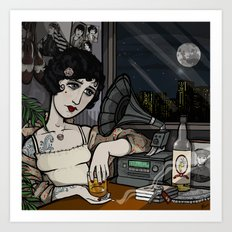 Lonesome Flapper. Art Print