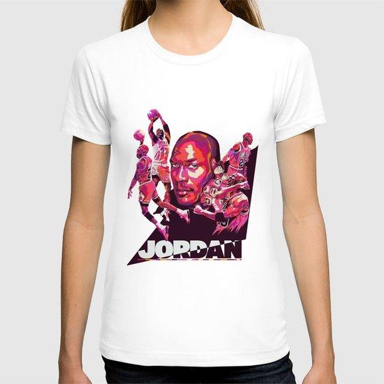 Michael Jordan NBA Illustration serie T-shirt