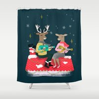 Reindeer Christmas Carol… Shower Curtain