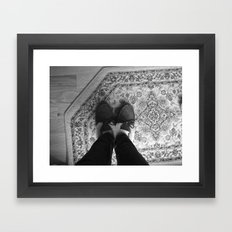 Winter Feet. Framed Art Print