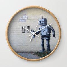 Banksy Robot (Coney Island, NYC) Wall Clock