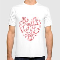 All You Need Is Love Mens Fitted Tee White SMALL