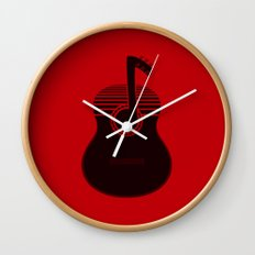 Classical Notes RED Wall Clock