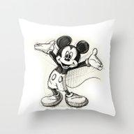 Mickey Mouse Throw Pillow