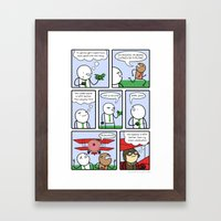 Antics #159 - just plane rude Framed Art Print