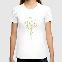 Erigeron Daisies Womens Fitted Tee White SMALL