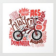 All My Bikes: 2, General Hustler Art Print