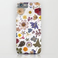 Pressed hearts iPhone 6 Slim Case