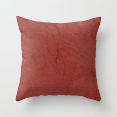 Tuscan Red Stucco Throw Pillow