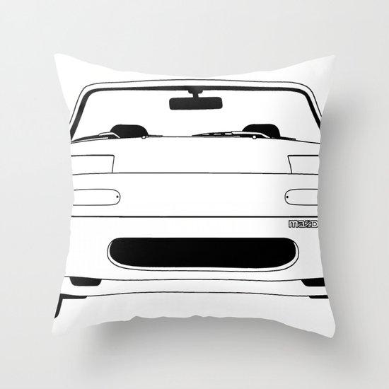 NA Miata/MX-5 Throw Pillow