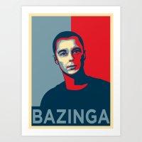 Dr. Sheldon Lee Cooper for president! Art Print