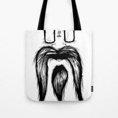 Blackie Beardy Face Tote Bag