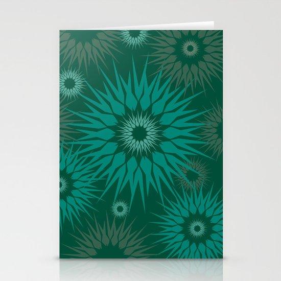 Dark Spiky Burst Stationery Card