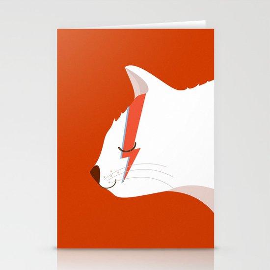 David Meowie Stationery Card
