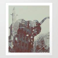 Urban Trunk Art Print