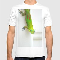 Gecko  Mens Fitted Tee White SMALL
